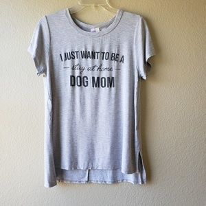 Alya Stay At Home Dog Mom Graphic Top